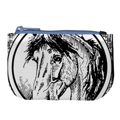Framed Horse Large Coin Purse by Nexatart