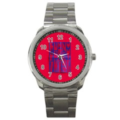 Funny Foggy Thing Sport Metal Watch