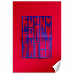 Funny Foggy Thing Canvas 12  X 18   by Nexatart