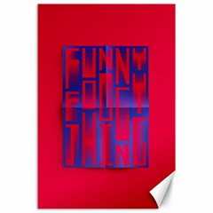 Funny Foggy Thing Canvas 24  X 36  by Nexatart