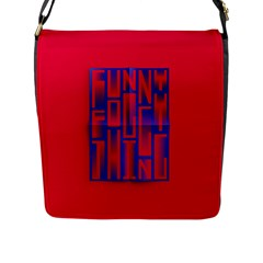 Funny Foggy Thing Flap Messenger Bag (l)