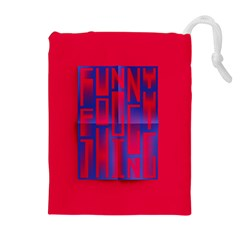 Funny Foggy Thing Drawstring Pouches (extra Large)
