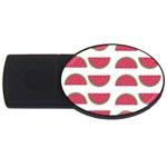 Watermelon Pattern USB Flash Drive Oval (2 GB) Front