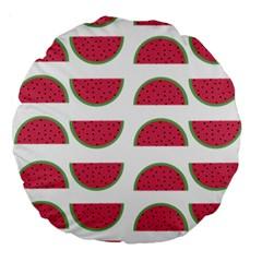 Watermelon Pattern Large 18  Premium Round Cushions