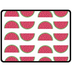 Watermelon Pattern Double Sided Fleece Blanket (large)