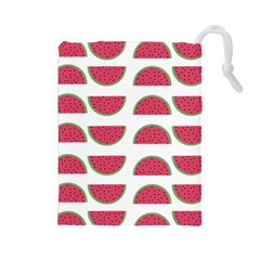 Watermelon Pattern Drawstring Pouches (large)
