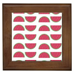 Watermelon Pattern Framed Tiles by Nexatart