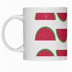 Watermelon Pattern White Mugs by Nexatart