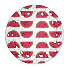 Watermelon Pattern Ornament (round Filigree)