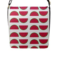 Watermelon Pattern Flap Messenger Bag (l)  by Nexatart