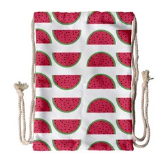 Watermelon Pattern Drawstring Bag (large)