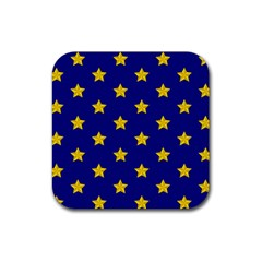 Star Pattern Rubber Coaster (square)  by Nexatart