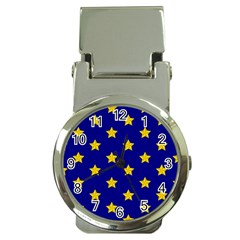 Star Pattern Money Clip Watches by Nexatart