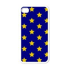 Star Pattern Apple Iphone 4 Case (white)