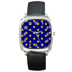 Star Pattern Square Metal Watch