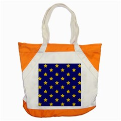 Star Pattern Accent Tote Bag