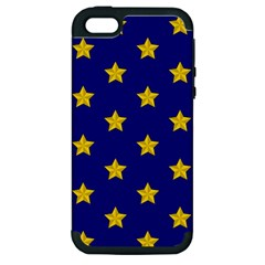Star Pattern Apple Iphone 5 Hardshell Case (pc+silicone)