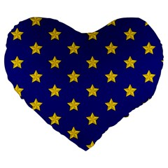 Star Pattern Large 19  Premium Heart Shape Cushions by Nexatart