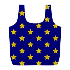 Star Pattern Full Print Recycle Bags (l)  by Nexatart