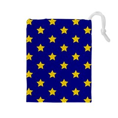 Star Pattern Drawstring Pouches (large)  by Nexatart