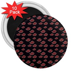 Cloud Red Brown 3  Magnets (10 Pack)  by Mariart