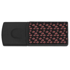 Cloud Red Brown Usb Flash Drive Rectangular (4 Gb) by Mariart
