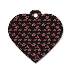 Cloud Red Brown Dog Tag Heart (one Side) by Mariart
