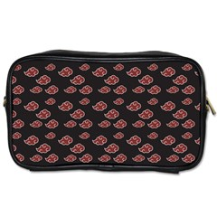 Cloud Red Brown Toiletries Bags by Mariart