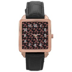 Cloud Red Brown Rose Gold Leather Watch  by Mariart