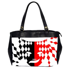 Face Mask Red Black Plaid Triangle Wave Chevron Office Handbags (2 Sides)  by Mariart