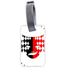 Face Mask Red Black Plaid Triangle Wave Chevron Luggage Tags (one Side)  by Mariart