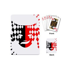 Face Mask Red Black Plaid Triangle Wave Chevron Playing Cards (mini)  by Mariart