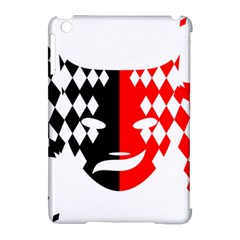 Face Mask Red Black Plaid Triangle Wave Chevron Apple Ipad Mini Hardshell Case (compatible With Smart Cover) by Mariart