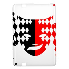 Face Mask Red Black Plaid Triangle Wave Chevron Kindle Fire Hd 8 9  by Mariart