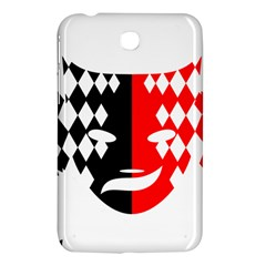 Face Mask Red Black Plaid Triangle Wave Chevron Samsung Galaxy Tab 3 (7 ) P3200 Hardshell Case  by Mariart