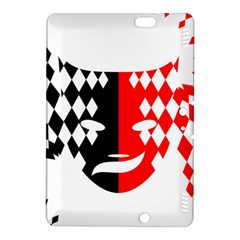 Face Mask Red Black Plaid Triangle Wave Chevron Kindle Fire Hdx 8 9  Hardshell Case by Mariart