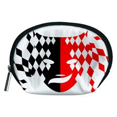 Face Mask Red Black Plaid Triangle Wave Chevron Accessory Pouches (medium)  by Mariart