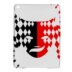 Face Mask Red Black Plaid Triangle Wave Chevron Ipad Air 2 Hardshell Cases by Mariart