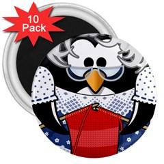 Grandma Penguin 3  Magnets (10 Pack)