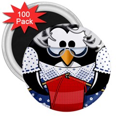 Grandma Penguin 3  Magnets (100 Pack)