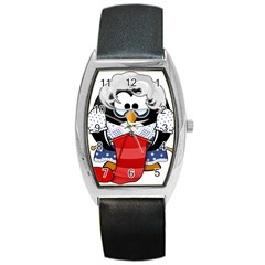 Grandma Penguin Barrel Style Metal Watch by Nexatart