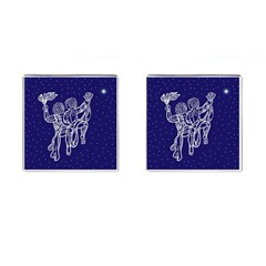 Gemini Zodiac Star Cufflinks (square)