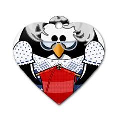 Grandma Penguin Dog Tag Heart (one Side)