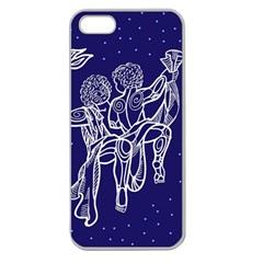 Gemini Zodiac Star Apple Seamless Iphone 5 Case (clear) by Mariart