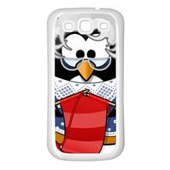 Grandma Penguin Samsung Galaxy S3 Back Case (white)