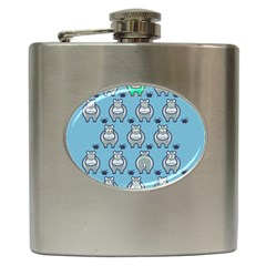 Funny Cow Pattern Hip Flask (6 Oz)