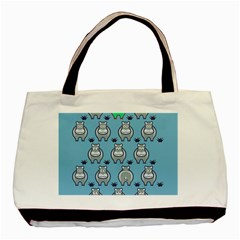 Funny Cow Pattern Basic Tote Bag by Nexatart