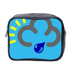 Light Rain Shower Cloud Sun Yellow Blue Sky Mini Toiletries Bag 2 Side by Mariart