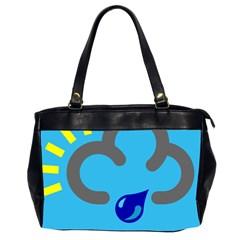 Light Rain Shower Cloud Sun Yellow Blue Sky Office Handbags (2 Sides)  by Mariart