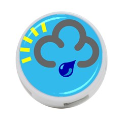 Light Rain Shower Cloud Sun Yellow Blue Sky 4 Port Usb Hub (two Sides)  by Mariart